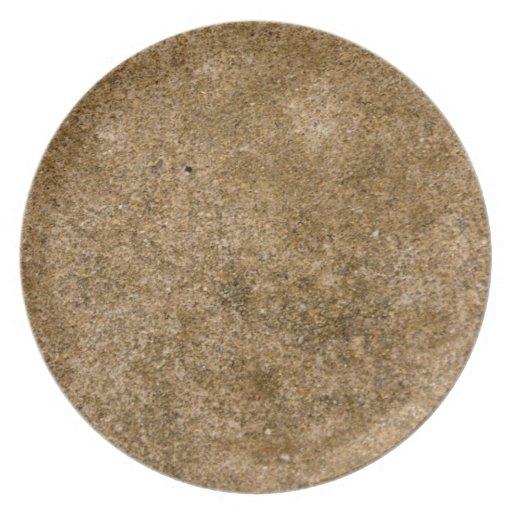 Rustic Earth III Organic Textures Designer Plate