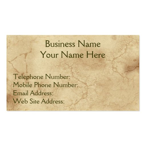 RUSTIC EARTH (Light) Business & Profile Cards Business Card Templates