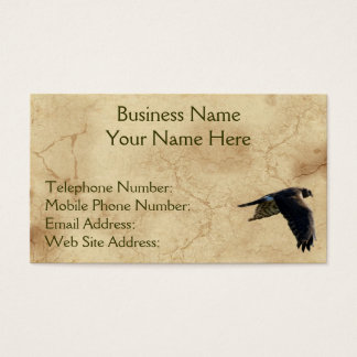 Rustic Earth Peregrine Falcon Business Cards