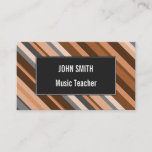 [ Thumbnail: Rustic, Earthy Brown, Beige and Grey Stripes Card ]