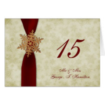 rustic ed snowflakes winter wedding table seating card