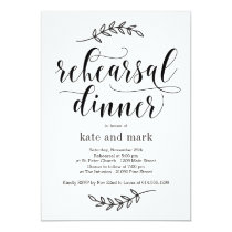 Rustic Elegance Rehearsal Dinner Invitation