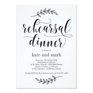 Rustic Elegance Rehearsal Dinner Invitation
