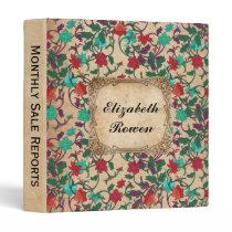 Rustic Elegance, shabby chic floral design Binder