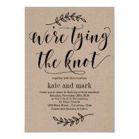Rustic Elegance Wedding Invitation Kraft