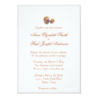 Rustic Elegant acorn wedding invitation