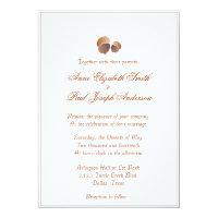 Rustic Elegant acorn wedding invitation