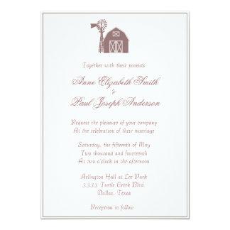 Rustic Elegant Barn Windmill Wedding Invitation