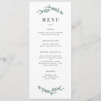 Rustic Elegant Floral Monogram Menu
