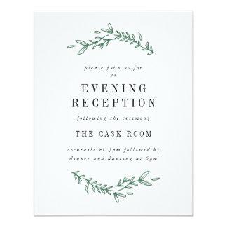 Rustic Elegant Floral Monogram Reception Cards