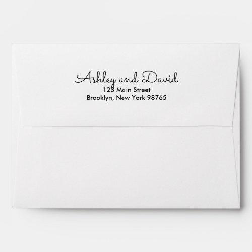 Rustic Elegant Invitation Envelope