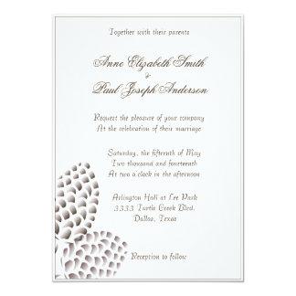 """Rustic Elegant Pinecones Wedding Invitation 5"""" X 7"""" Invitation Card"""