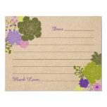 Rustic Elegant Succulent Floral Advise Card