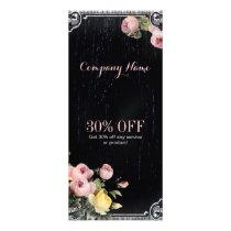 rustic elegant vintage botanical chalkboard floral rack card