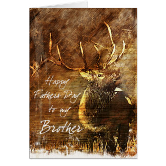 Rustic Elk Brothers Father's Day Card Greeting Cards