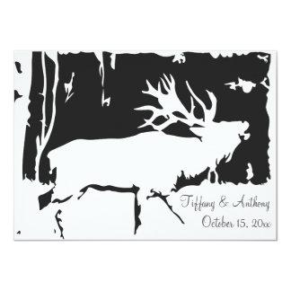 Rustic Elk Hunting Theme Wedding Invitations