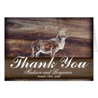 Rustic Elk Wildlife Wedding Thank You Card