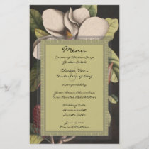 Rustic Enchanted Fairy Tale Forest Magnolia Menu