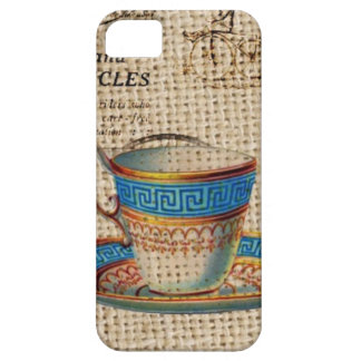 Rustic english country tea party blue teacup iPhone SE/5/5s case