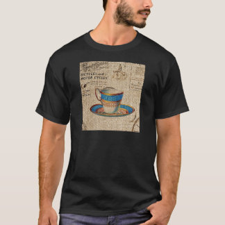 Rustic english country tea party blue teacup T-Shirt