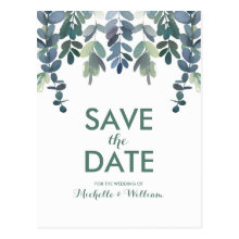 Rustic Eucalyptus Greenery Gum Tree Save the Date