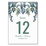 Rustic Eucalyptus Greenery Wedding Table Numbers