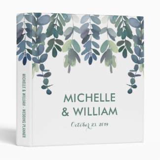 Rustic Eucalyptus Wedding Planner | Greenery 3 Ring Binder