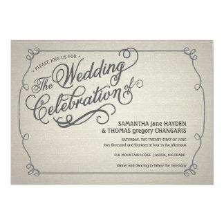 Rustic Fade Cream Wedding Invitation