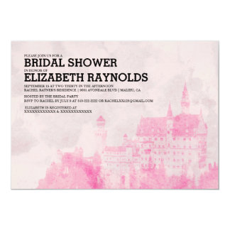 "Rustic Fairytale Castle Bridal Shower Invitations 5"" X 7"" Invitation Card"