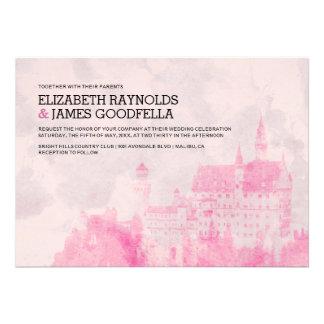 Rustic Fairytale Castle Wedding Invitations Invites