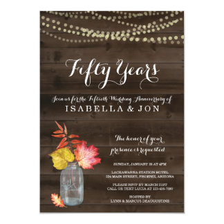 Rustic Fall Anniversary Party Invitation