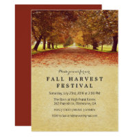Rustic Fall Autumn Harvest Festival Invitation