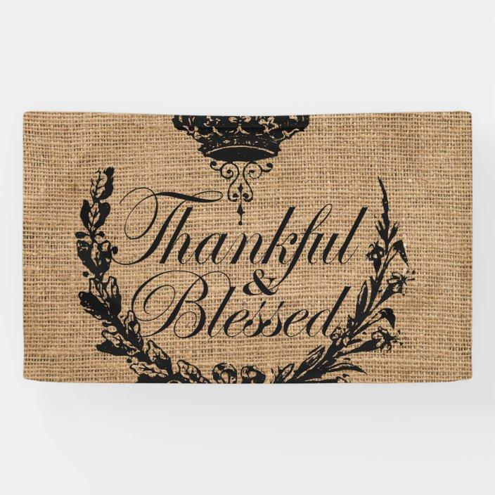 Thanksgiving Burlap Banner,Thanksgiving Decor,Fall Banner,Fall Burlap Banner,Fall Decor,Autumn Banner Blessed Burlap Banner Blessed Banner