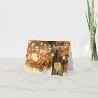 Rustic Fall Autumn Tree Twinkle Lights Thank You