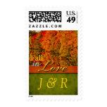 Rustic Fall  Autumn Wedding Monogram Stamps