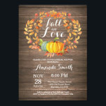 "Rustic Fall Bridal Shower Invitation Card<br><div class=""desc"">Rustic Fall Bridal Shower Invitation Card Pumpkin Floral with rustic wood background. For further customization,  please click the &quot;Customize it&quot; button and use our design tool to modify this template.</div>"