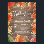 """Rustic Fall Bridal Shower Invitation Card<br><div class=""""desc"""">Rustic Fall Bridal Shower Invitation Card Pumpkin Floral with rustic wood background. For further customization,  please click the &quot;Customize it&quot; button and use our design tool to modify this template.</div>"""