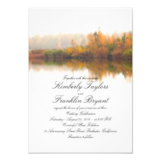 Rustic Fall Elegant and Simple Wedding Invitation