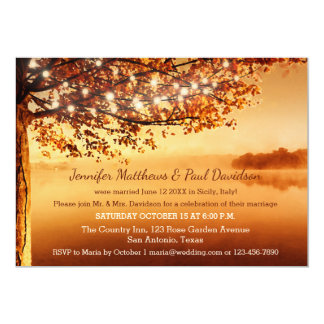 Rustic Fall Elope or Post Wedding Party Invitation