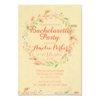Rustic Fall Flowers Watercolor Bachelorette Party Invitation