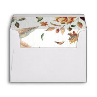 rustic fall harvest country wedding floral envelope