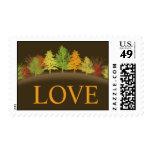 Rustic Fall In Love | Autumn Wedding Postage