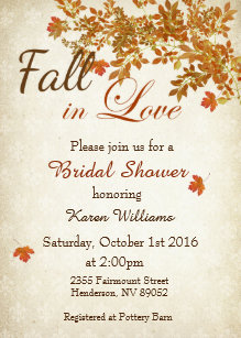Fall bridal shower invitations announcements zazzle rustic fall in love bridal shower invitation filmwisefo