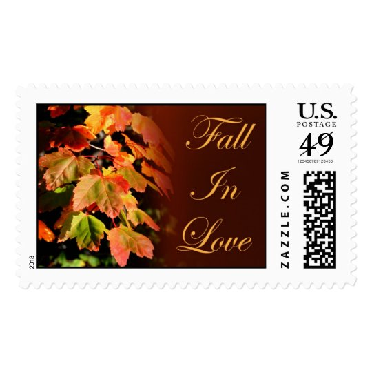 Rustic Fall In Love Fall Wedding Autumn Weddings Stamp