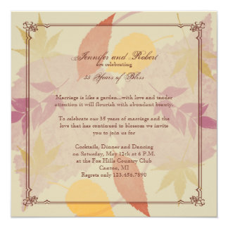 Rustic Fall Leaves Anniversary Card