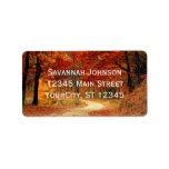 Rustic Fall Leaves Autumn Custom Address Labels at Zazzle