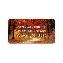 Rustic Fall Leaves Autumn Custom Address Labels