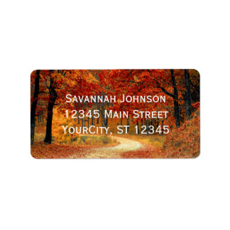 Rustic Fall Leaves Autumn Custom Address Labels