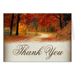 Rustic Fall Leaves Autumn Thank You Cards at Zazzle