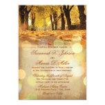 Rustic Fall Leaves Autumn Wedding Invitations at Zazzle